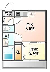 AJ幕張本郷SouthI[2階]の間取り