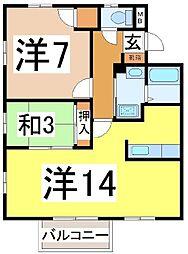 静岡県沼津市本白銀町の賃貸アパートの間取り