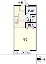 ロイヤル三好ヶ丘A[2階]の間取り