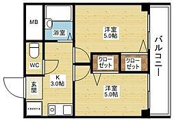 木川東エクセルハイツ[5階]の間取り