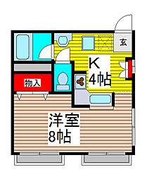 橋本ハイツ[1階]の間取り