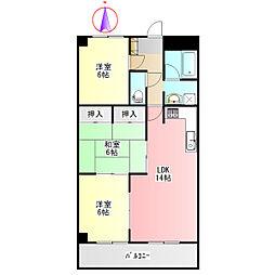 THE T・O・M[6階]の間取り