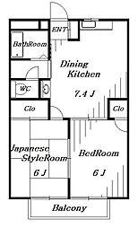 ドエルフォーラムA[2階]の間取り