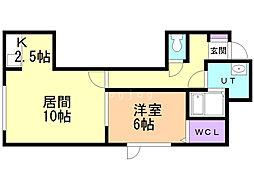 KOYA'S 1階1LDKの間取り