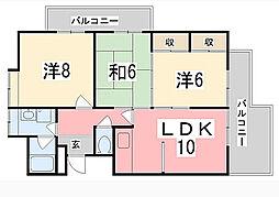 グリーンビュー[2階]の間取り