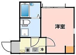神奈川県川崎市川崎区鋼管通4の賃貸アパートの間取り