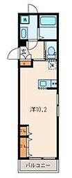 東京メトロ有楽町線 要町駅 徒歩5分の賃貸アパート 3階ワンルームの間取り