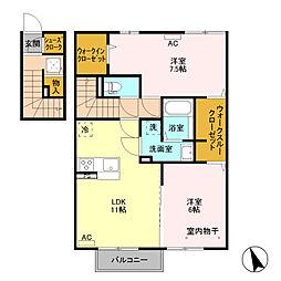 (仮)D−room富士見町 B棟[201号室]の間取り
