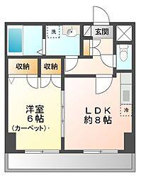 松岡ビル[4階]の間取り