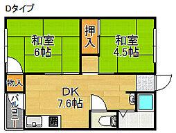 グリーンマンション[4階]の間取り