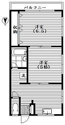 杉原ハイム[2階]の間取り