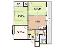 レデント和泉[3階]の間取り