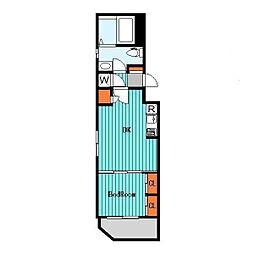 エフパークレジデンス横浜反町[3階]の間取り