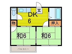 石川ハイツ[2階]の間取り
