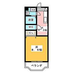 ペガサスMI[3階]の間取り