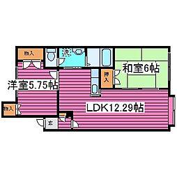 北海道札幌市北区篠路二条7丁目の賃貸アパートの間取り