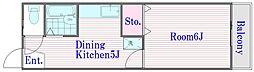 バーレルハイツ[2階]の間取り