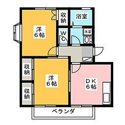 エスペランサ A[2階]の間取り
