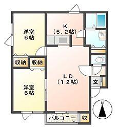 ノースタウン39[1階]の間取り