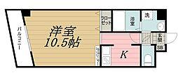 千葉県千葉市中央区長洲1丁目の賃貸マンションの間取り