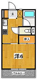 ロッジング金沢[A203号室]の間取り