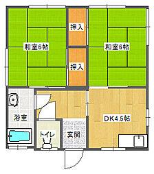 中野アパート[101号室]の間取り
