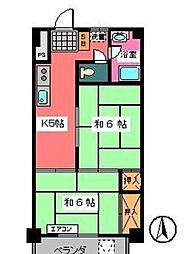 宇田川ビル[6階]の間取り