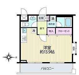 三ツ沢中町テラス[2階]の間取り