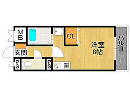 エクシード武庫之荘2[4階]の間取り