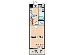 京都府京都市伏見区南新地の賃貸マンションの間取り