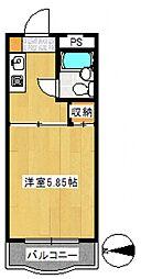 ハイタウン大倉山第壱[2階]の間取り