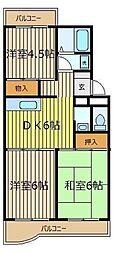 ハイツ鶴ヶ舞[3階]の間取り