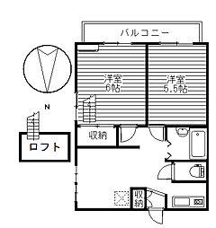 プレステージ大胡I[2階]の間取り