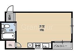 大阪府大阪市福島区大開3丁目の賃貸マンションの間取り