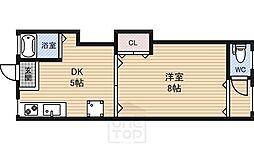 都月ハウス[3階]の間取り