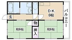 ウェリッジマンション[203号室]の間取り