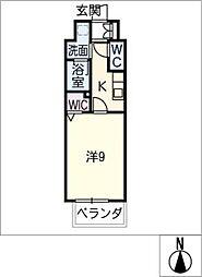 仮)千種区東山通一丁目プロジェクト 9階1SKの間取り