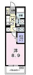 高松琴平電気鉄道琴平線 栗林公園駅 徒歩14分の賃貸マンション 1階1Kの間取り