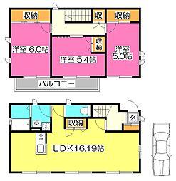 [一戸建] 東京都小平市上水南町3丁目 の賃貸【/】の間取り