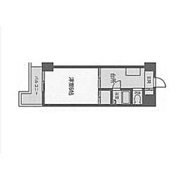 ホワイトマンション西新[1階]の間取り