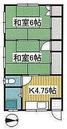 細井ハイツ[203号室]の間取り