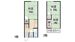[テラスハウス] 兵庫県川西市霞ヶ丘2丁目 の賃貸【兵庫県 / 川西市】の間取り