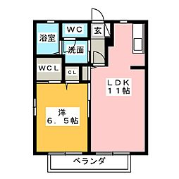 Novel 三軒家[2階]の間取り