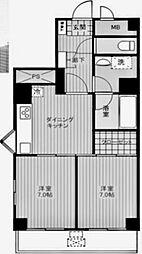 コートハイム横浜[504号室]の間取り
