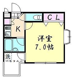 メゾン三松[106号室]の間取り