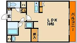 メゾン・ド・ラヴィ[4階]の間取り