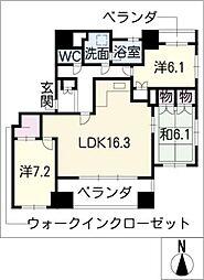 パシフィックコンフィート丸の内[9階]の間取り