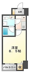 ベルファース江坂[1階]の間取り