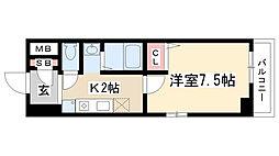 愛知県名古屋市昭和区滝子町21丁目の賃貸マンションの間取り