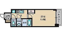プレサンス新大阪ジェイズ 7階1Kの間取り